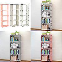 Книжная полка Стеллаж для хранения вещей Комбинированный декор Книжный шкаф Главная Книги-1TopShop