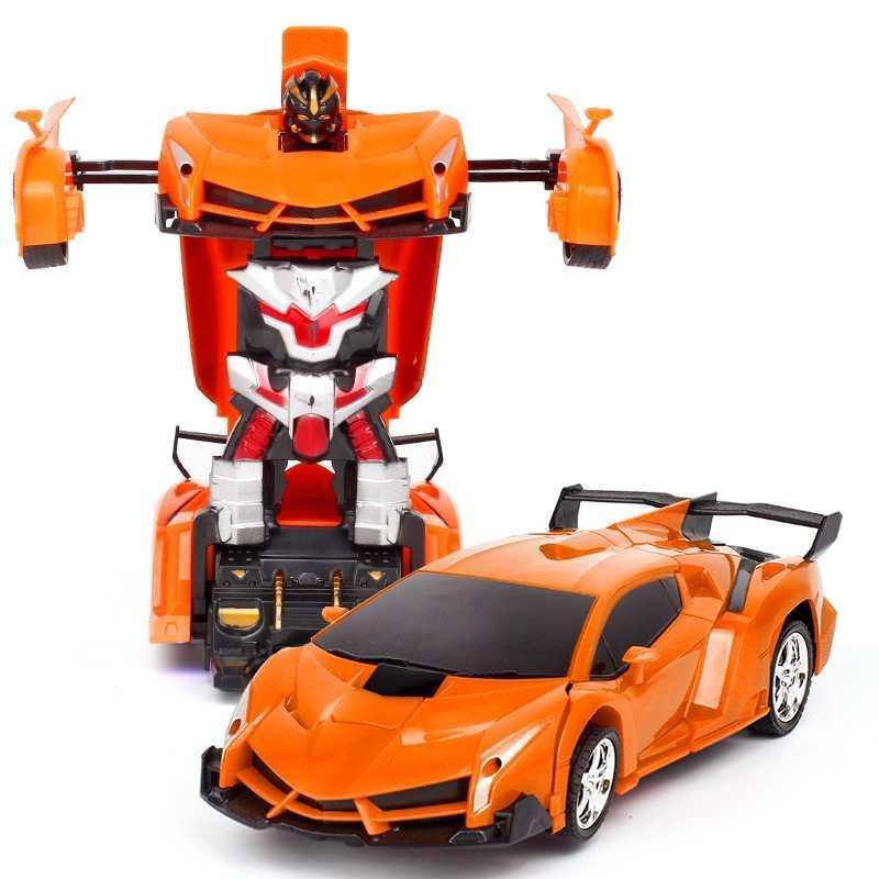 Машинка трансформер Lamborghini Robot Car Size 1:18 - Оранжевая