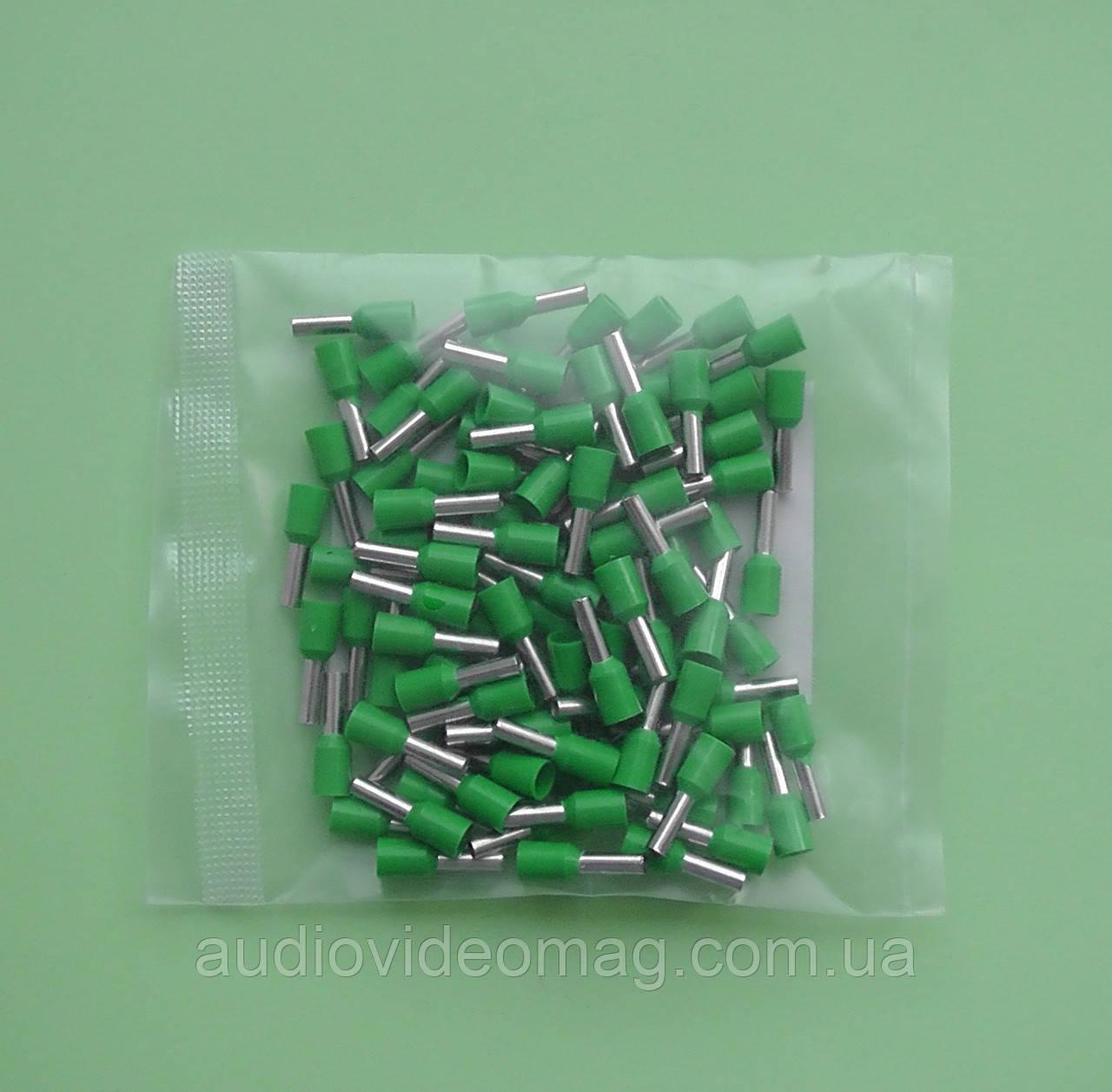 Наконечник кабельний втулковий НВ 2.5 / 8 мм, упаковка - 100 шт.