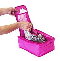 Дорожный органайзер для обуви ORGANIZE C018 розовый