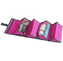 Косметичка-трансформер со съемными отделениями ORGANIZE K012 розовый