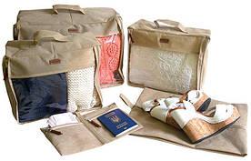 Набор дорожных сумок в чемодан 5 шт Organize P005 бежевый - R176403