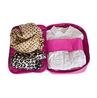 Органайзер для рубашек на 3шт для путешествий ORGANIZE C020 розовый