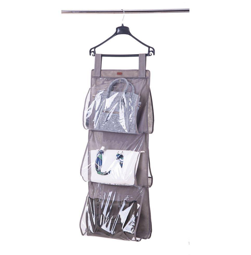 Подвесной органайзер для хранения сумок L ORGANIZE HBag-L серый