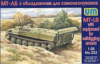 1:35 Сборная модель бронетранспортера МТ-ЛБ, Unimodels 233;[UA]:1:35 Сборная модель бронетранспортера МТ-ЛБ,