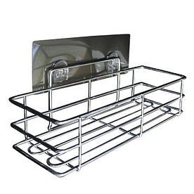 Полочка для аксессуаров в ванную на присоске 29 см - R132860