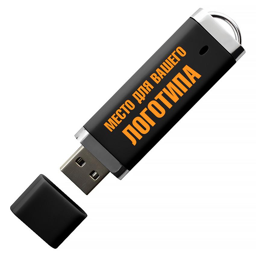 USB флеш-накопитель, 4ГБ, черный цвет (0707-6 4ГБ)