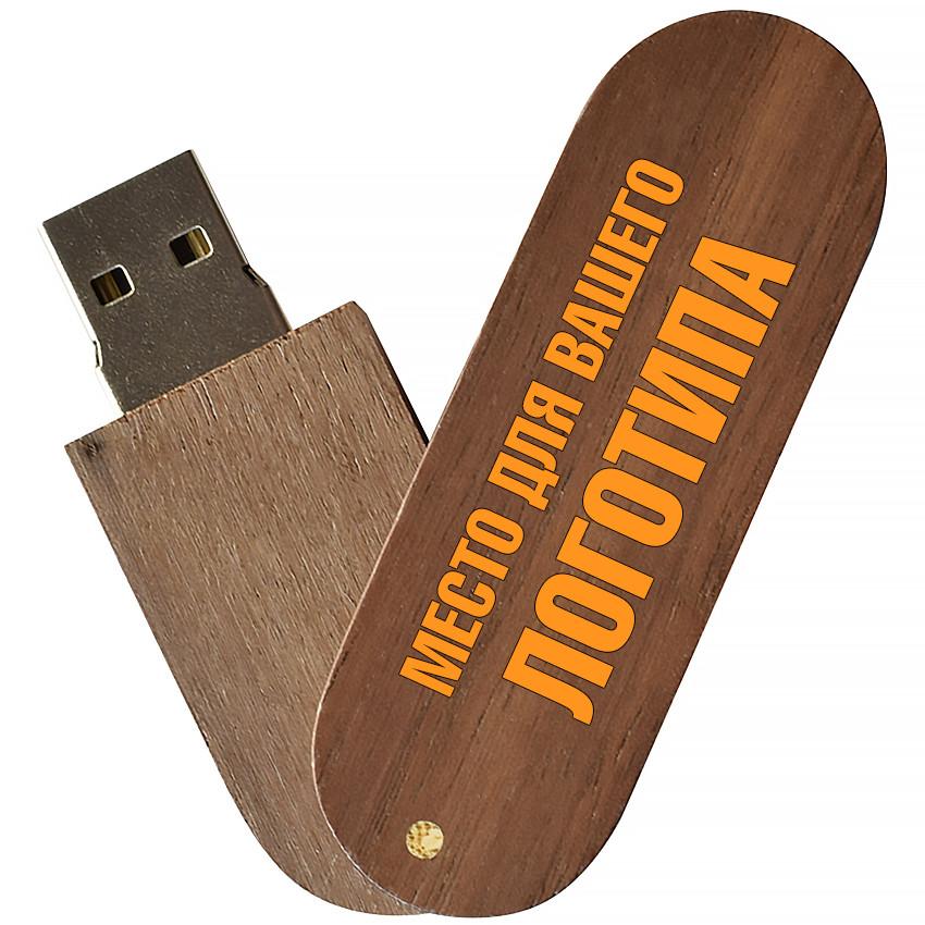 Деревянный USB флеш-накопитель, 32ГБ, коричневый цвет (0201-2 32ГБ)