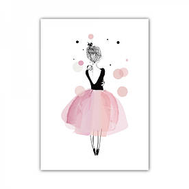 Постер в рамке на стену Балерина 30х40 см - 189983