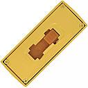USB флеш-накопитель Золотой слиток мини, 4ГБ, золотистый цвет (0326 4ГБ), фото 3