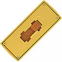 USB флеш-накопитель Золотой слиток мини, 8ГБ, золотистый цвет (0326 8ГБ), фото 3