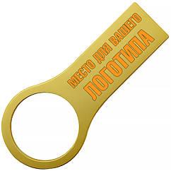 Металлический USB флеш-накопитель, 4ГБ, золотистый цвет (0495-3 4ГБ)