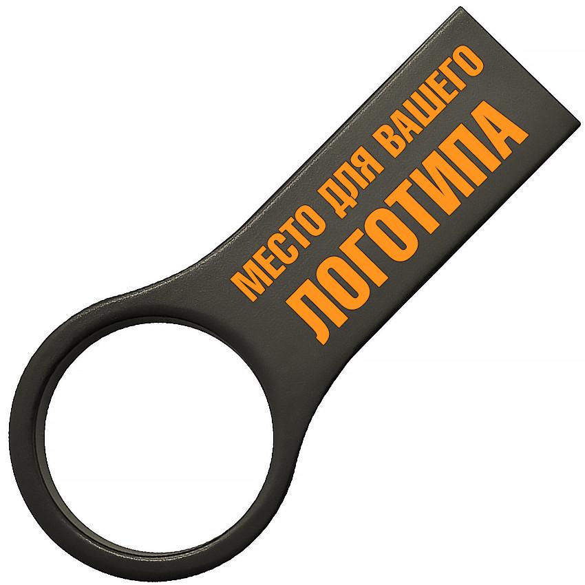 Металлический USB флеш-накопитель, 16ГБ, черный цвет (0495-4 16ГБ)