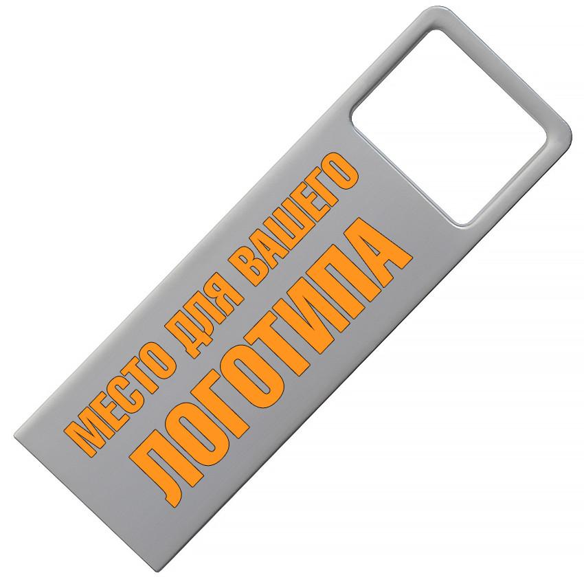Металлический USB флеш-накопитель, 4ГБ, серебристый цвет (0496-1 4ГБ)