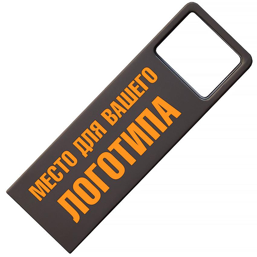 Металлический USB флеш-накопитель, 16ГБ, черный цвет (0496-2 16ГБ)