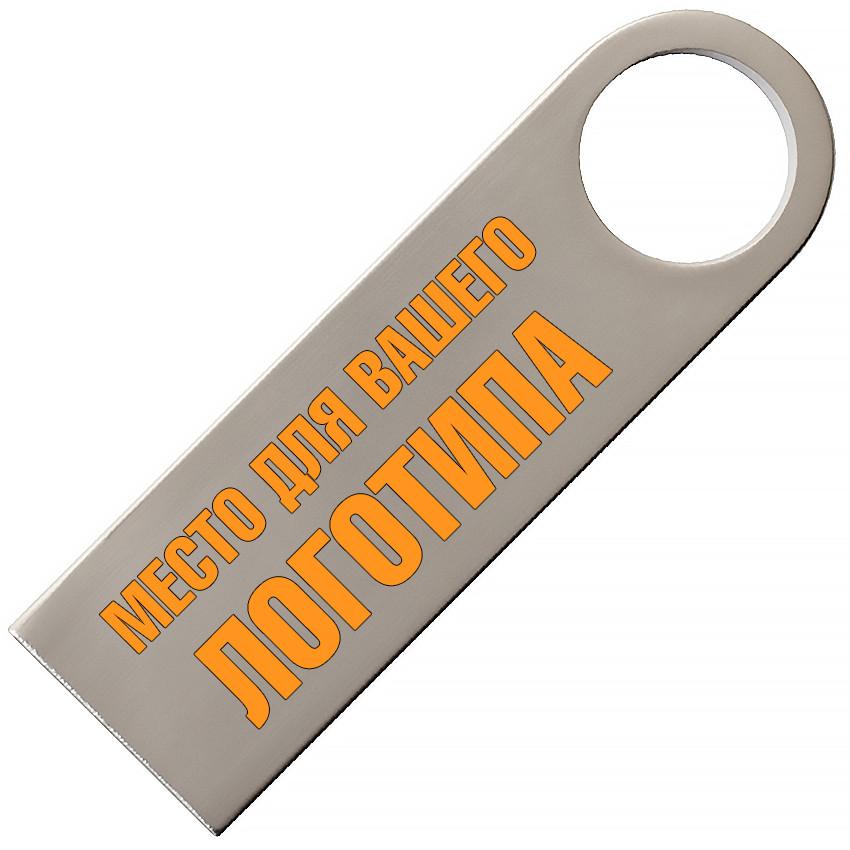 Металлический USB флеш-накопитель, 4ГБ, серебристый цвет (0497-1 4ГБ)