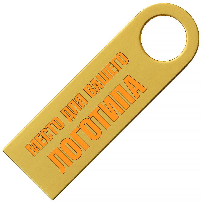 Металлический USB флеш-накопитель, 16ГБ, золотистый цвет (0497-3 16ГБ)