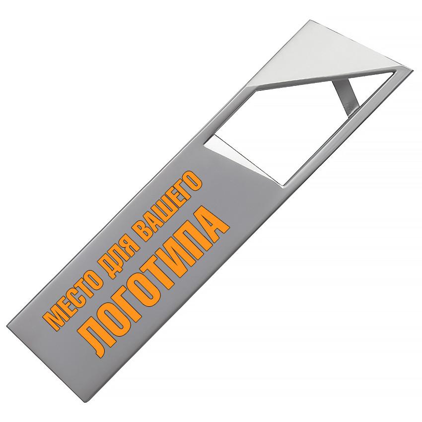 Металлический USB флеш-накопитель, 16ГБ, серебристый цвет (0498-1 16ГБ)