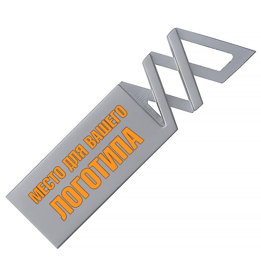 Металлический USB флеш-накопитель, 16ГБ, серебристый цвет (0499-1 16ГБ)