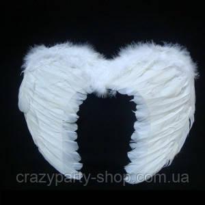 Крылья белые перьевые 55х40 см