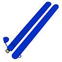 Силиконовый USB флеш-накопитель Браслет, 64ГБ, синий цвет (0993-3 64ГБ), фото 3