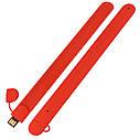 Силиконовый USB флеш-накопитель Браслет, 8ГБ, красный цвет (0993-4 8ГБ), фото 3