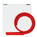 Силиконовый USB флеш-накопитель Браслет, 8ГБ, красный цвет (0993-4 8ГБ), фото 5