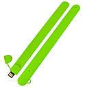 Силиконовый USB флеш-накопитель Браслет, 16ГБ, зеленый цвет (0993-5 16ГБ), фото 3