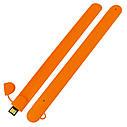 Силиконовый USB флеш-накопитель Браслет, 32ГБ, оранжевый цвет (0993-6 32ГБ), фото 3