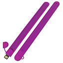 Силиконовый USB флеш-накопитель Браслет, 64ГБ, фиолетовый цвет (0993-8 64ГБ), фото 3