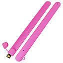 Силиконовый USB флеш-накопитель Браслет, 64ГБ, розовый цвет (0993-9 64ГБ), фото 3
