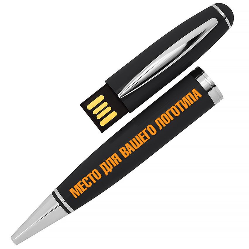 USB флеш-накопитель в виде Ручки, 32ГБ, черный цвет (1122-2 32ГБ)
