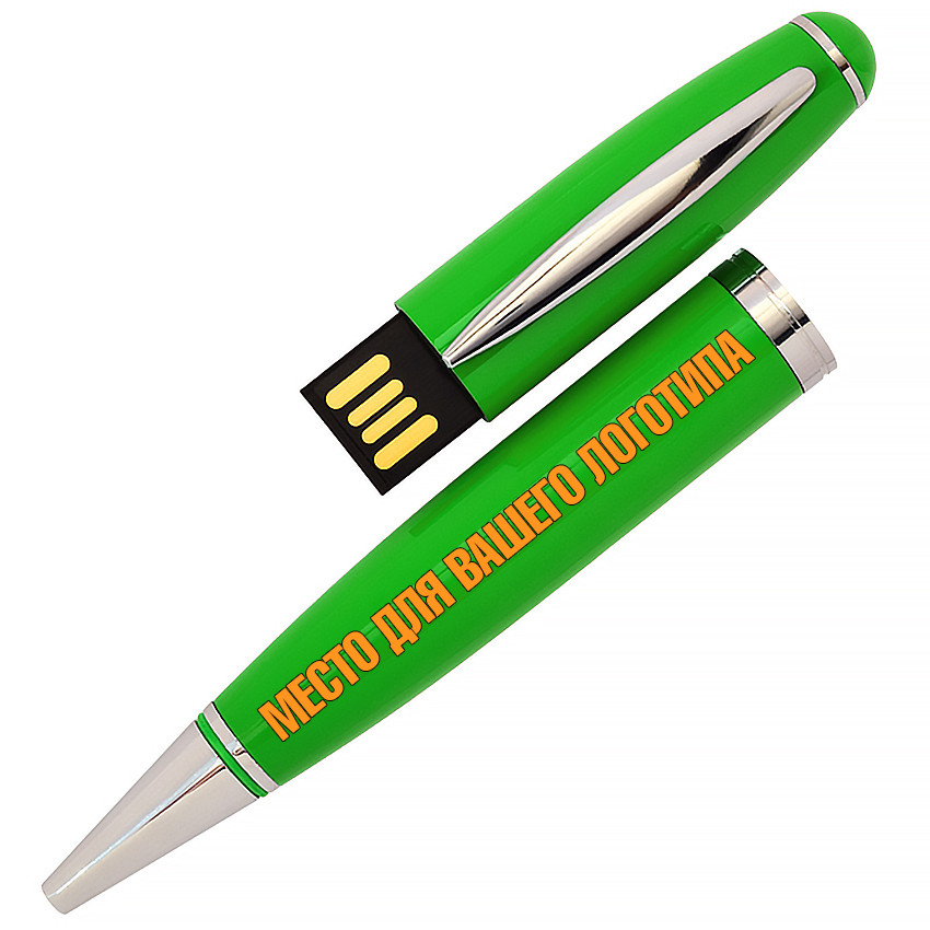 USB флеш-накопитель в виде Ручки, 32ГБ, зеленый цвет (1122-5 32ГБ)