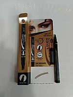 Подводка-маркер для бровей тёмно-коричневый (1)