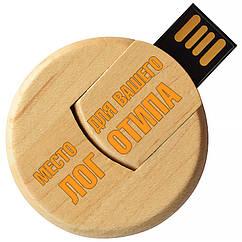 Деревянный USB флеш-накопитель, 8ГБ, бежевый цвет (0247 8ГБ)