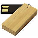 Деревянный USB флеш-накопитель, 32ГБ, бежевый цвет (0253-1 32ГБ), фото 2