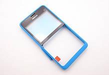 Передня панель Nokia Asha 210 блакитна (оригінал)