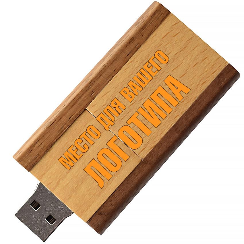 Деревянный USB флеш-накопитель, 32ГБ, коричневый цвет (0212-2 32ГБ)