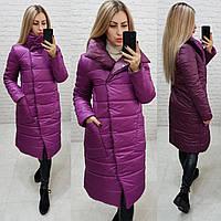 Куртка женская двухсторонняя осень-весна, фиолетовый+слифовый