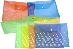 Папка на кнопці MY CLEAR BAG А4 пластик 160мкр 12шт/уп
