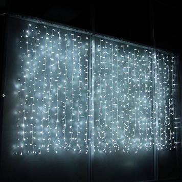 Светодиодная гирлянда Водопад Штора LED 280 лампочек размер 3х1,2м