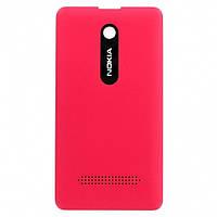 Крышка задняя Nokia Asha 210 красная (оригинал)