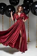 Вечернее шёлковое платье в пол Ариада