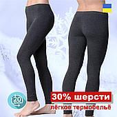 Термолосины женские с шерстью Kifa Wool Comfort черные XS