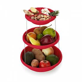 Складная подставка миска для чипсов фруктов Twistfold Party Bow Pink - 189945