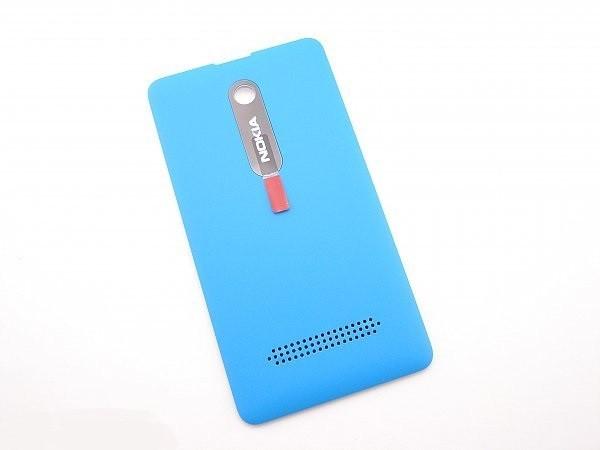 Крышка задняя Nokia Asha 210 голубая (оригинал)
