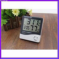 Цифровой термометр часы гигрометр LCD 3 в 1 HTC 1