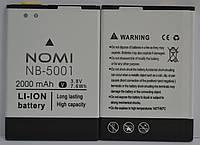 Аккумулятор АКБ (Батарея) NB-5001 NB5001 для Nomi i5001 (2000 mAh 3.8V) Оригинал