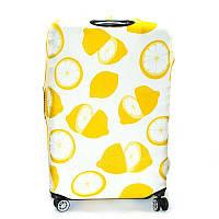 Чехол для среднего чемодана дайвинг medium lemon