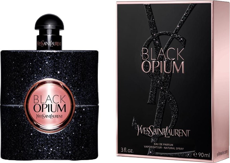 Парфюмерная вода для женщин Yves Saint Laurent Black Opium, 90 мл в примятой упаковке